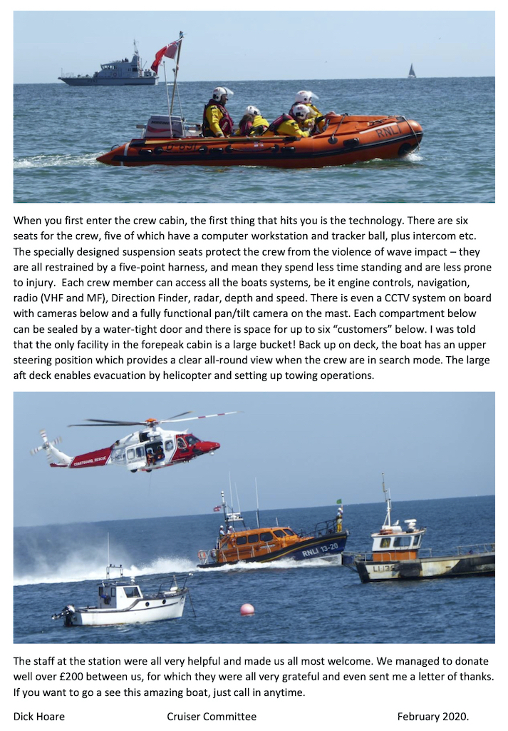 Dell Quay sailors visit Selsey lifeboat copy2