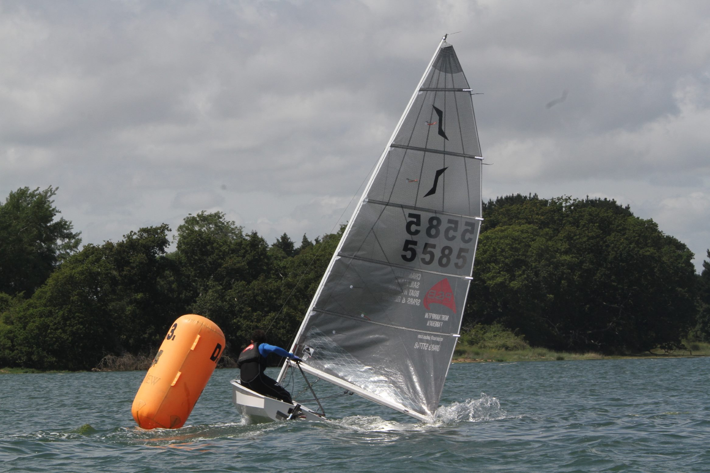 DQ1 - Solo Open Winner Ben McGrane at the Leeward Mark